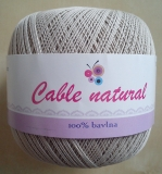 Cable natural - č. 214 lněná