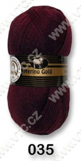 Merino Gold č. 035 - bordó