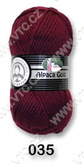Alpaca Gold č. 035 - bordó - DOPRODEJ 4 ks